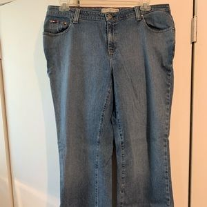 Tommy Hilfiger hipster boot cut jeans, sz 16